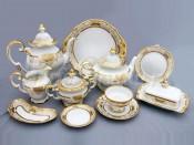 """Сервиз чайный """"Симфония золотая 427"""" на 12перс.55пред."""