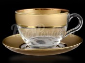 "Набор для чая 220 мл ""Матовое золото"" на 6 перс. 12 пред."