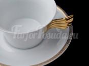 """Пара чайная """"Медальон Меандр""""(чашка220мл.+блюдце)"""