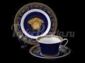 "Пара чайная ""Медуза синяя""(чашка220мл.+блюдце)"