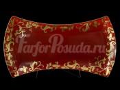 "Блюдо 45 см ""Tosca Bordeaux Gold"""