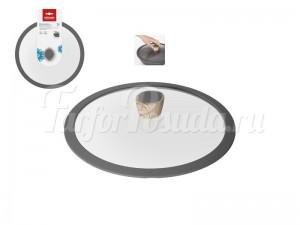 """Стеклянная крышка с силиконовым ободом 28 см """"Mineralica"""""""