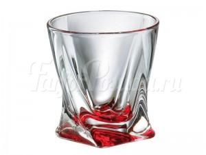 """Набор стаканов 340 мл 6 шт. """"Квадро"""" красные"""