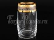"""Набор стаканов для воды 250 мл """"Идеал Золотой листок Кристалекс"""" 6 шт."""