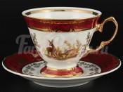 """Набор для кофе 140 мл """"Фредерика Охота Красная"""" на 6 перс. 12 пред."""