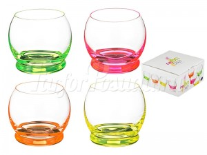 "Набор стаканов 390 мл 4 шт. ""Crazy Neon"""
