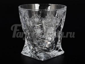 """Набор стаканов 340 мл 6 шт """"Квадро"""" снежинка"""