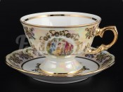 "Набор для чая ""Мадонна Перламутр"" на 6 перс. 12 пред. Royal Czech Porcelain"