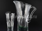 """Набор для воды """"Аполло зеленый"""" кувшин 1,7 л и 6 стаканов 480 мл"""