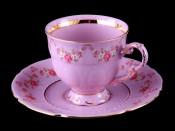 """Чайная пара 0,15 л """"Розовый фарфор Соната"""""""