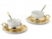"""Набор для чая 150 мл на 2 перс. 6 пред. """"Stradivari"""" золото"""