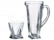 "Набор для воды 7 пред. ""Квадро"" кувшин 1,1 л и 6 стаканов 340 мл"