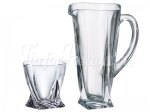 "Набор ""Квадро прозрачный"" кувшин 1,1 л и 6 стаканов 340 мл"