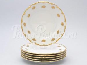 "Набор тарелок 25 см 6/1 ""Золотая роза 901"""