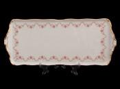 """Поднос """"Мелкий розовый цветок"""" 38см."""
