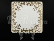 """Набор тарелок 21 см квадрат """"Tosca Cobalt Gold"""""""