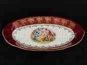 """Блюдо овальное 32 см """"Красная Мадонна Royal Czech Porcelain"""" (6 шт)"""