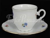 """Набор для кофе 110 мл """"Офелия Мелкие цветы отводка золото"""" на 6 перс. 12 пред."""