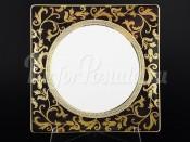 """Набор тарелок 27 см квадрат """"Tosca Cobalt Gold"""""""