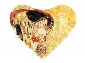 """Тарелка в форме сердца 13 см """"Поцелуй"""" (Г.Климт)"""