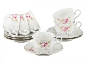 """Набор для чая 250 мл на 6 перс. 12 пред. """"Чайная роза"""""""