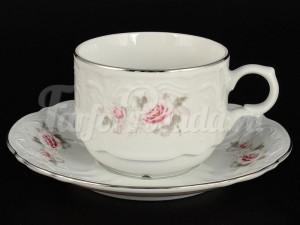 "Набор для чая 250 мл ""Серая роза платина"" на 6 перс. 12 пред."