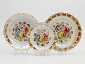"Набор тарелок для сервировки стола ""Мадона Листр"" 18шт,"