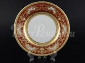 """Набор закусочных тарелок 21 см 6 шт. """"Alena 3D Bordeaux Gold"""""""