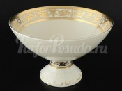 "Ваза для фруктов 24 см на ножке ""Cream porcelain Imperial Gold"""