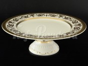 """Тортница 32 см на ножке """"Cream porcelain Imperial Gold"""""""