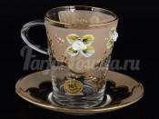 "Набор для чая 220 мл ""Лепка золотая"" на 6 перс. 12 пред."