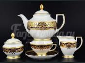 """Сервиз чайный """"Natalia cobalt gold"""" на 6 перс. 15 пред."""