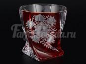 """Набор стаканов 340 мл 6 шт. """"Цветы"""" красный Квадро"""