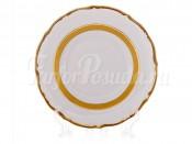 """Набор тарелок """"Лента золотая матовая 2"""" 17 см. 6 шт."""