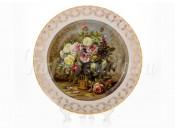 """Настенная тарелка 32см """"Цветы 1"""""""