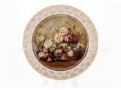 """Настенная тарелка 32см """"Цветы 2"""""""