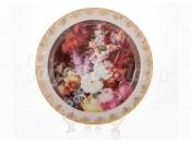 """Настенная тарелка 32см """"Цветы 6"""""""