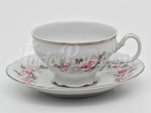 "Набор для чая на 6перс.12 пред.""Роза серая платина"""