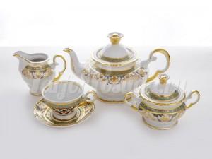 "Сервиз чайный на 6 перс.15 пред.""Бирюза"""