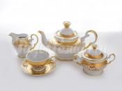 """Сервиз чайный на 6 перс.15 пред.""""Ангелика золото"""""""