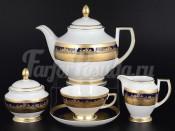 """Сервиз чайный """"Cobalt Gold 9320"""" на 6 перс. 15 пред."""