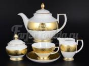 """Сервиз чайный """"Diamond FuII Gold"""" на 6 перс. 15 пред."""