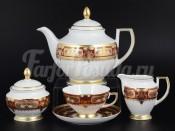 """Сервиз чайный """"Donna bordeaux gold"""" на 6 перс. 15 пред."""