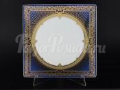 """Набор подстановочных тарелок 27 см 6 шт. квадратные """"Elegance Blueshadow Gold"""""""