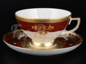"""Набор для чая 250 мл """"Alena 3D Bordeaux Gold"""" на 6 перс. 12 пред."""