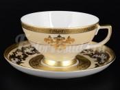 """Набор для чая 250 мл """"Alena 3D Creme Gold"""" на 6 перс. 12 пред."""