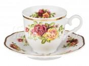 """Набор для кофе 150 мл """"Английские розы"""" на 6 перс. 12 пред."""