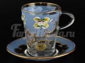 """Набор для чая 220 мл """"Лепка синяя"""" на 6 перс. 12 пред."""