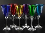 "Набор бокалов 185 мл 6 шт. ""Цветные"" Александра"