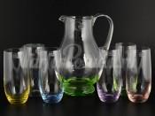 """Набор 7 пред. """"Радуга"""" кувшин 1,5 л и 6 стаканов 350 мл"""